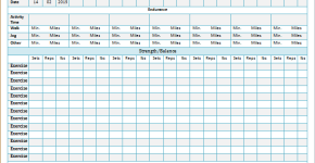 Exercise log template