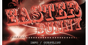 easter bunny club party flyer