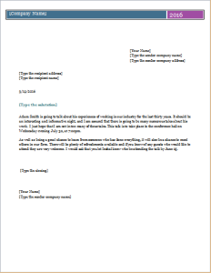 Business event invitation letter