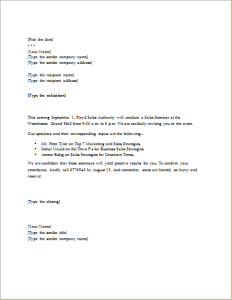 Seminar invitation letter