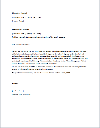 Event Invitation Letter