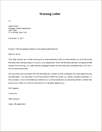 Sample legal letter for Employee leaving without notice