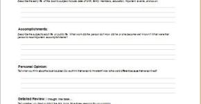 biography report template
