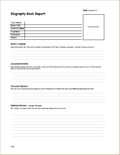 Biography  Internship Report Templates  Formal Word Templates