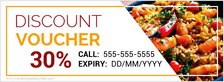 Food Voucher Templates For Ms Word  Formal Word Templates