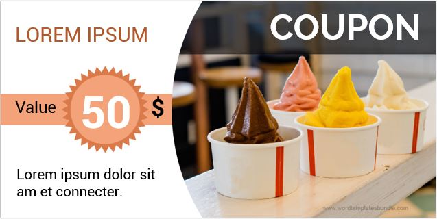 Ice Cream Coupon Sample