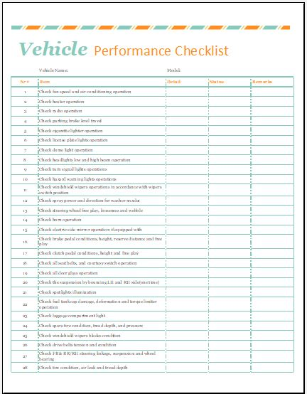 Automobile Condition Report Template