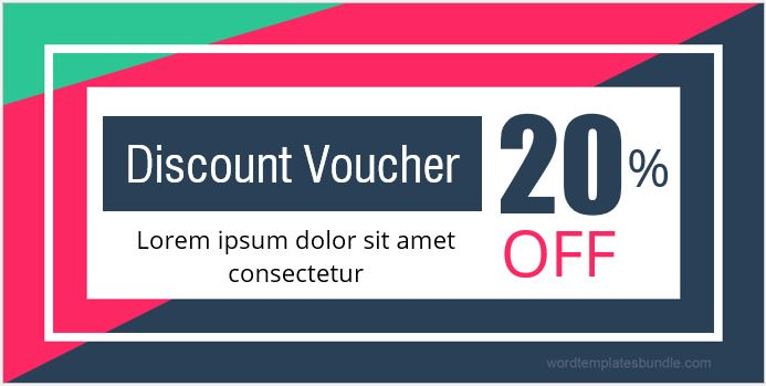 Discount Voucher for MS Word