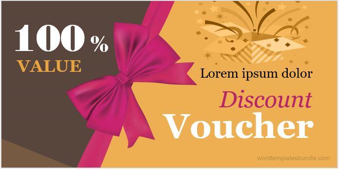 Discount voucher sample