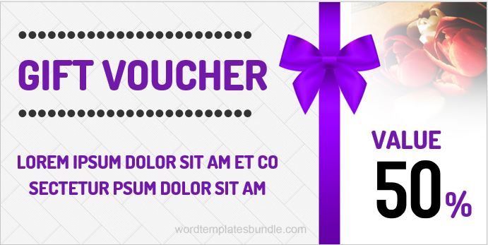 Gift Voucher for MS Word