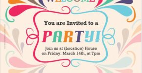 Party Invitation Card for Word