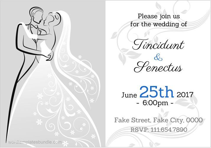 MS Word design wedding invitation card