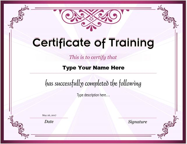 How to make certificate of training with do 39 s dont 39 s for Course certificate template word