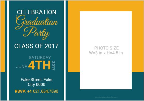 Graduation Ceremony Invitation Card Template MS Word