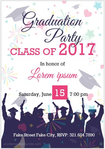 10 best graduation party invitation card templates ms word for Free graduation invitation templates for word