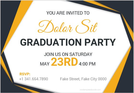 10 best graduation party invitation card templates ms word graduation party invitation card template ms word stopboris Gallery