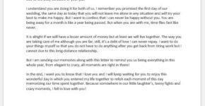 Anniversary Love Letter