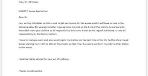 Leave Application Letter