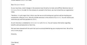 Layoff notice template