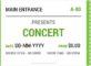 Concert ticket template