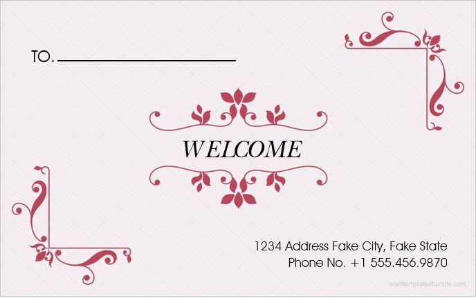 Wedding envelope template