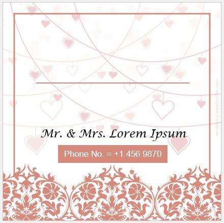 wedding envelope sample