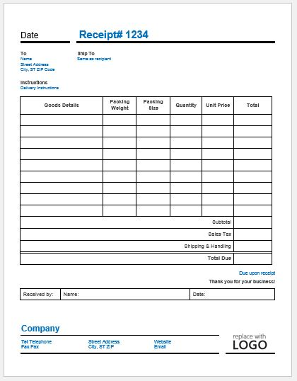 Delivery Invoice Template  Delivery Order Template