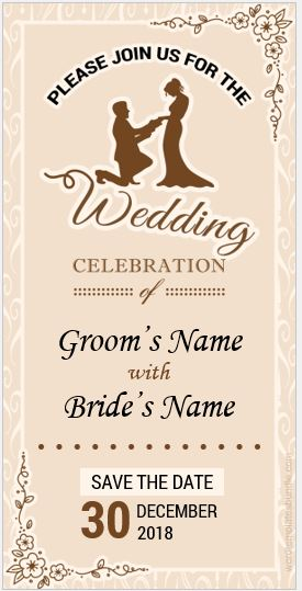 Wedding program card