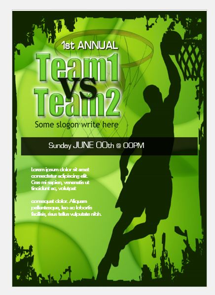 Basketball competition flyer