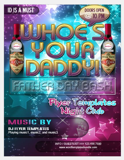 Fathers Day Party Flyer Template