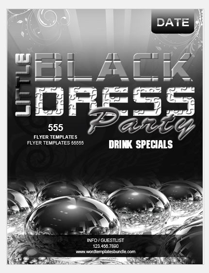 Black Dress Party Flyer Template