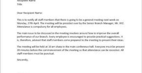 General meeting invitation letter