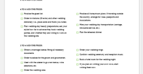 Wedding summary checklist template