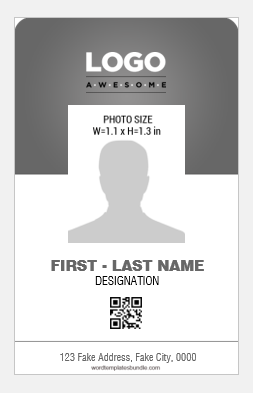 Vertical id card sample
