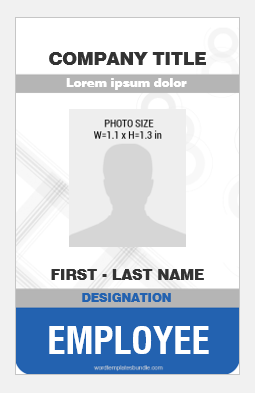 Vertical id badge layout