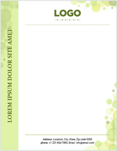 Letterhead sample template
