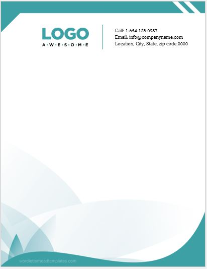 Sample letterhead template