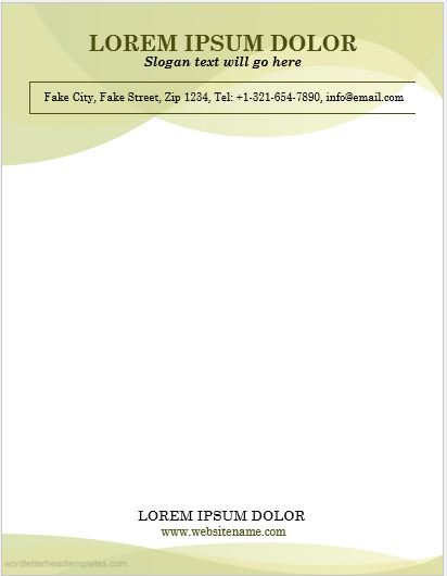Business letterhead sample