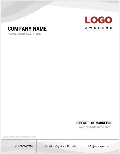 Company letterhead format