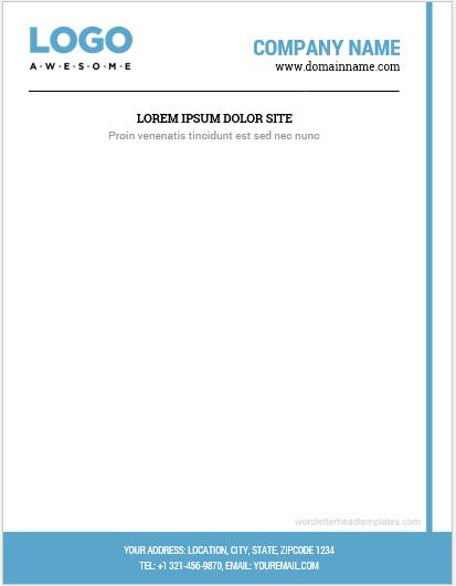 Business letterhead format