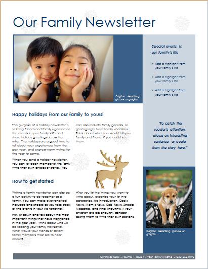 Family Christmas Newsletter