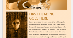 Software Company Newsletter Template