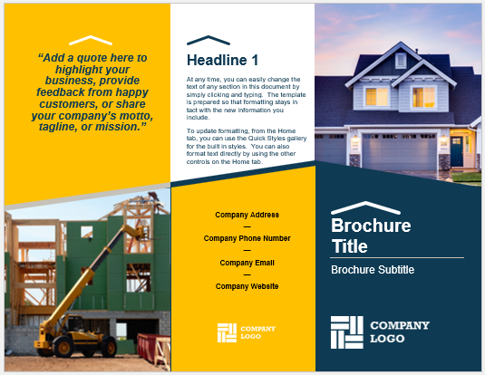 Builder Brochure Template