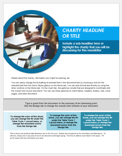 Charity Newsletter Template