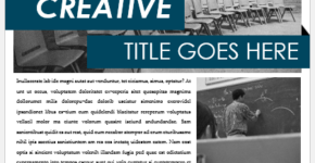 College Newsletter Template