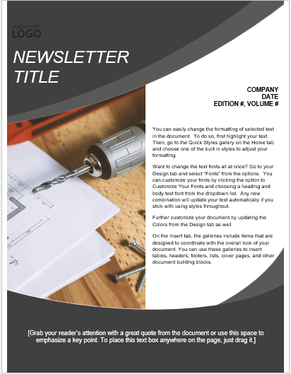 Handyperson Newsletter Template