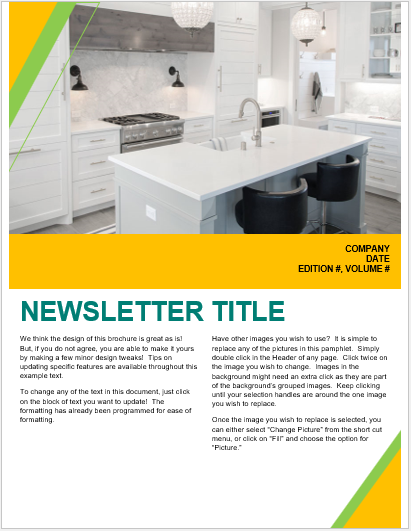 Interior Design Newsletter Template