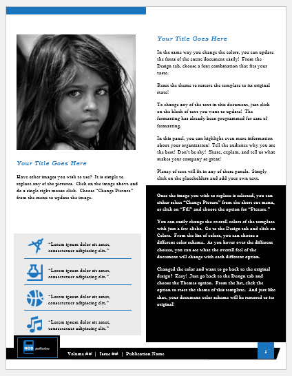 NGO Newsletter Template