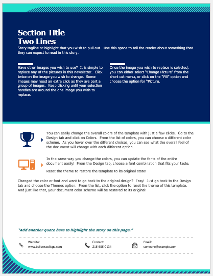 Parent Teacher Newsletter Template