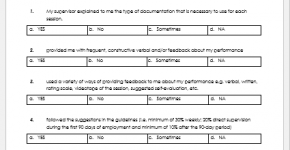 Supervisor Feedback Form